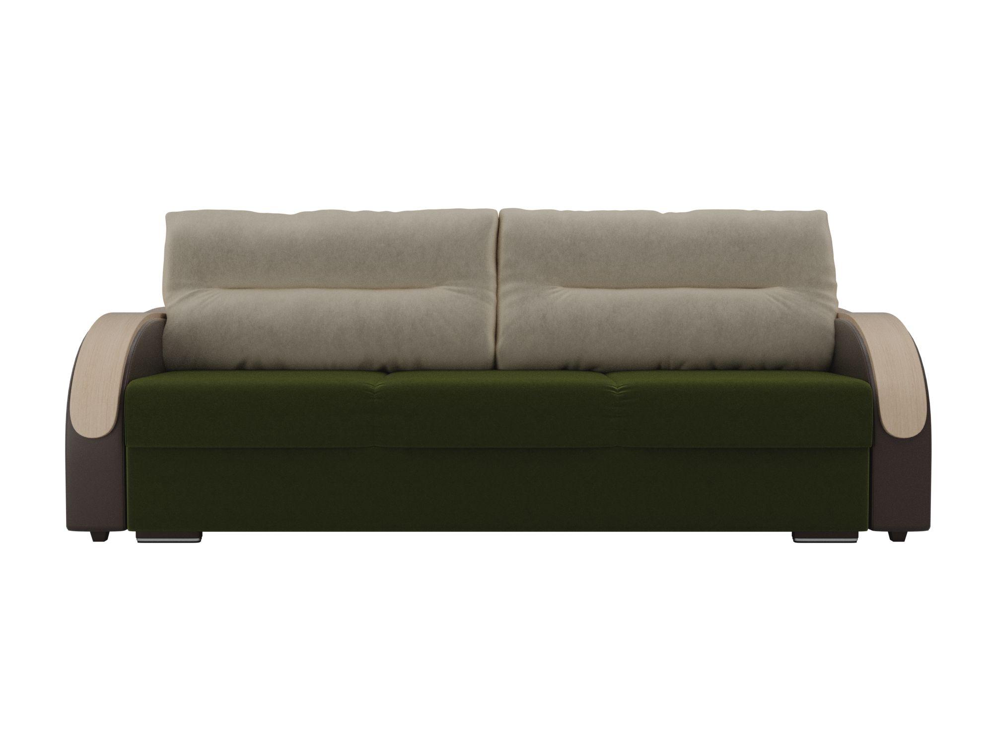Диван Дарси MebelVia Зеленый, Коричневый, Искусственная кожа диван шарль люкс mebelvia белый черный искусственная кожа лдсп фан