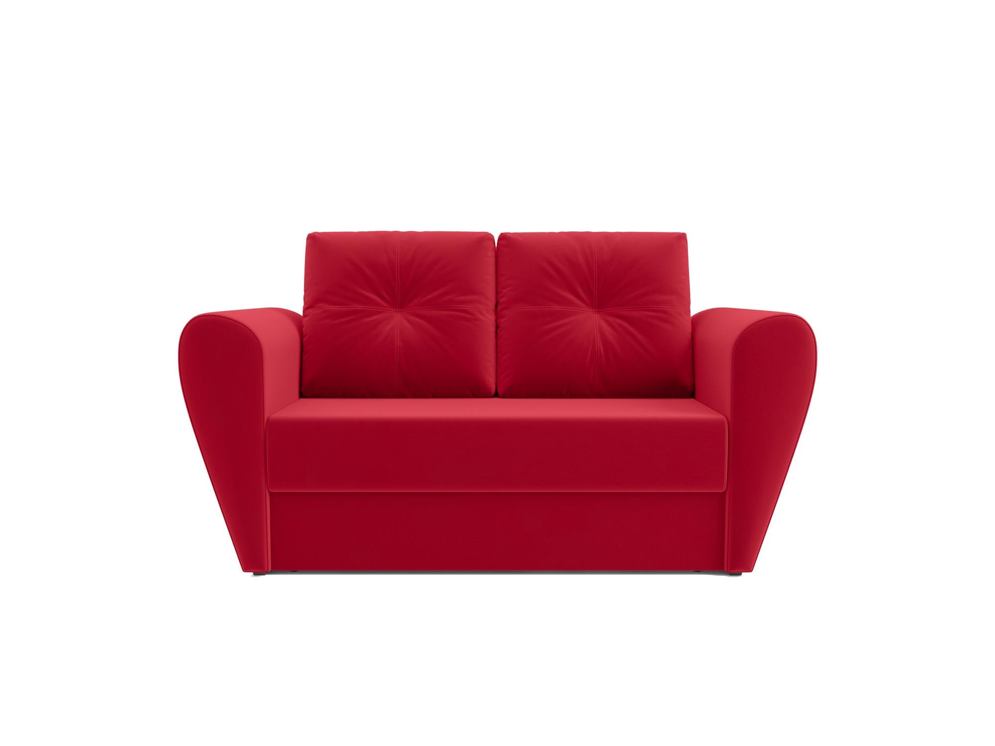 Фото - Диван Квартет MebelVia Красный, Микровелюр, Брус сосны диван мальтида mebelvia красный микровелюр брус сосны