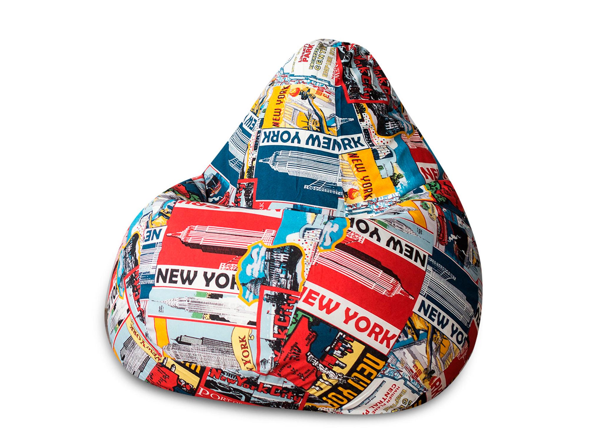 Кресло Мешок New York XL 125х85 MebelVia Разноцветный, Жаккард кресло мешок флаги xl 125х85 mebelvia