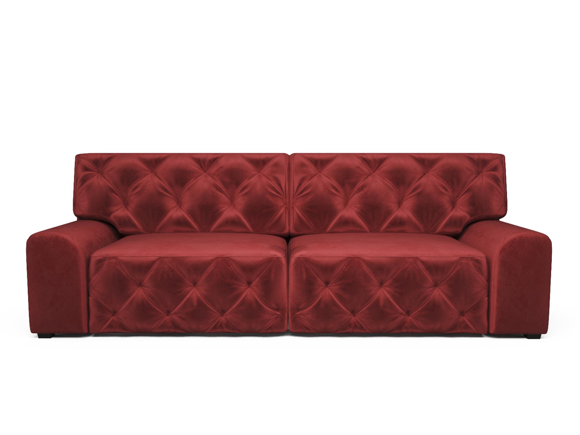 Фото - Диван Милан MebelVia Красный, Микровелюр, Брус сосны диван мальтида mebelvia красный микровелюр брус сосны