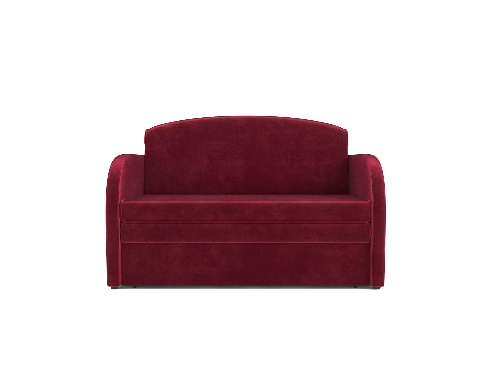 Фото - Диван Малютка MebelVia Красный, Вельвет бархатного типа, Брус сосны диван малютка кармен mebelvia зеленый рогожка брус сосны