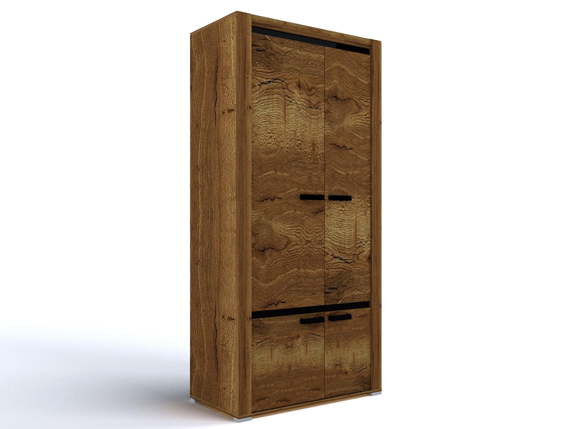 Шкаф для одежды Бруна Дуб галифакс табак, Коричневый, Коричневый