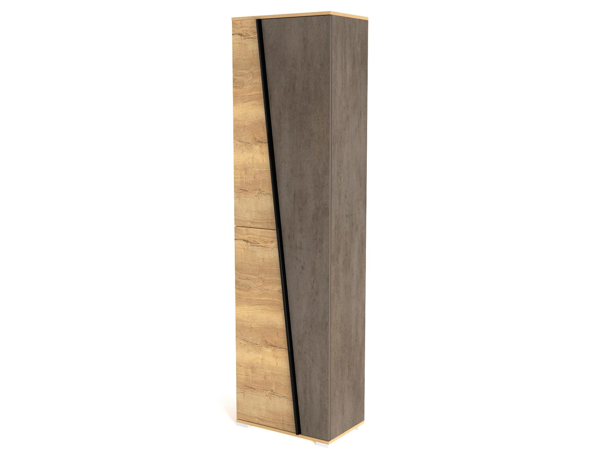 Фото - Шкаф для одежды с полками Стреза Дуб Галифакс натуральный, Бетон шкаф однодверный стреза дуб галифакс натуральный бетон чикаго