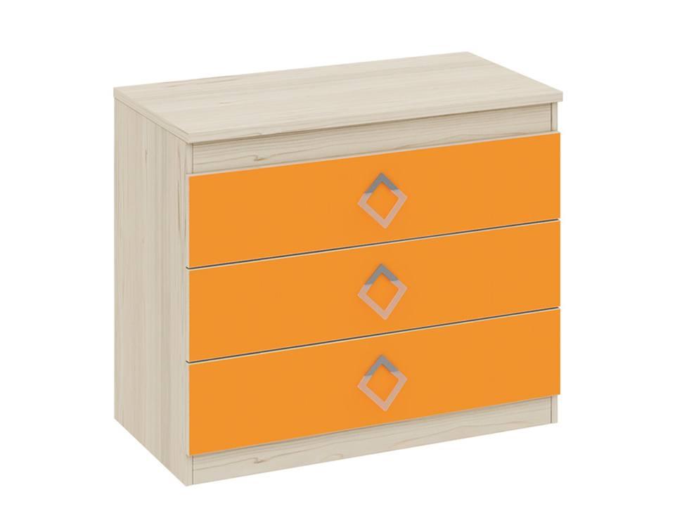 Комод Аватар  Комод Аватар. Размер (ШхВхГ, см): 88х73,5х45. Каркас — ЛДСП. Цвет — оранжевый.