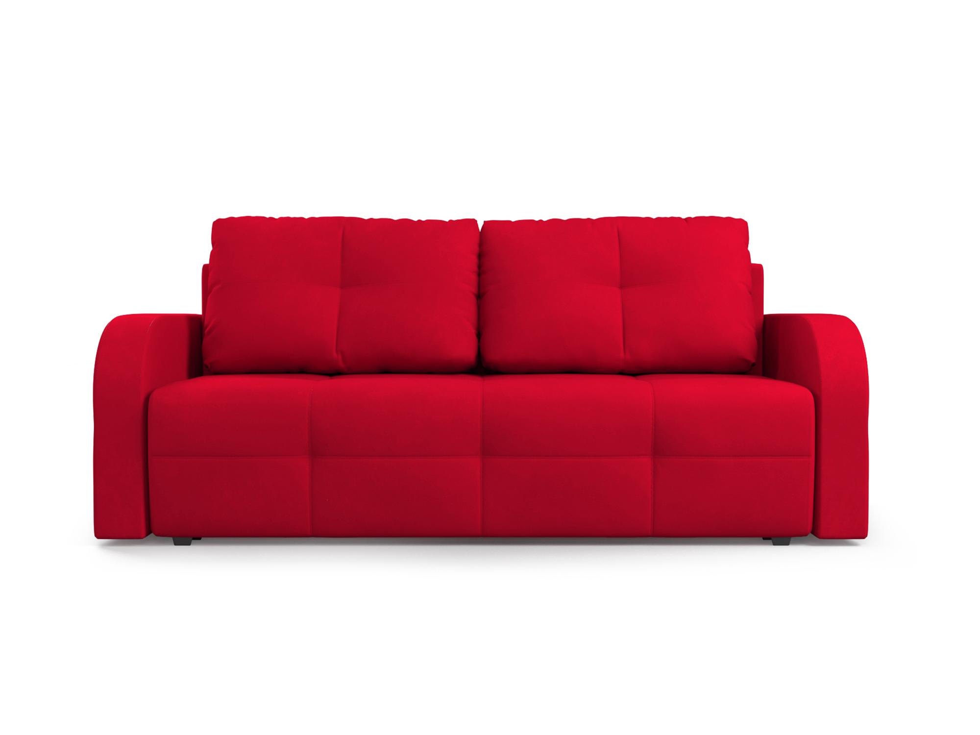 Фото - Диван Марсель 3 MebelVia Красный, Микровелюр, Брус сосны диван мальтида mebelvia красный микровелюр брус сосны