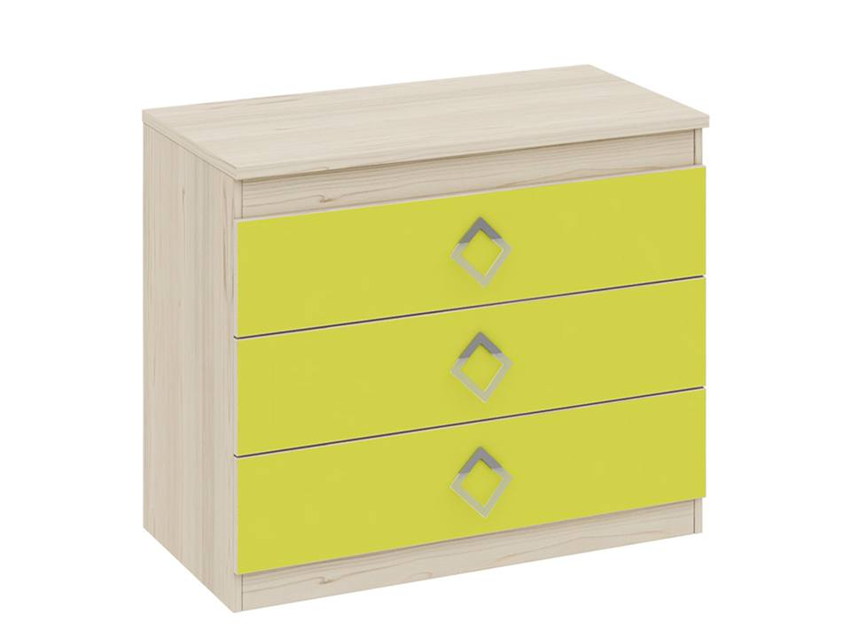 Комод Аватар  Комод Аватар. Размер (ШхВхГ, см): 88х73,5х45. Каркас — ЛДСП. Цвет — желтый, зеленый.