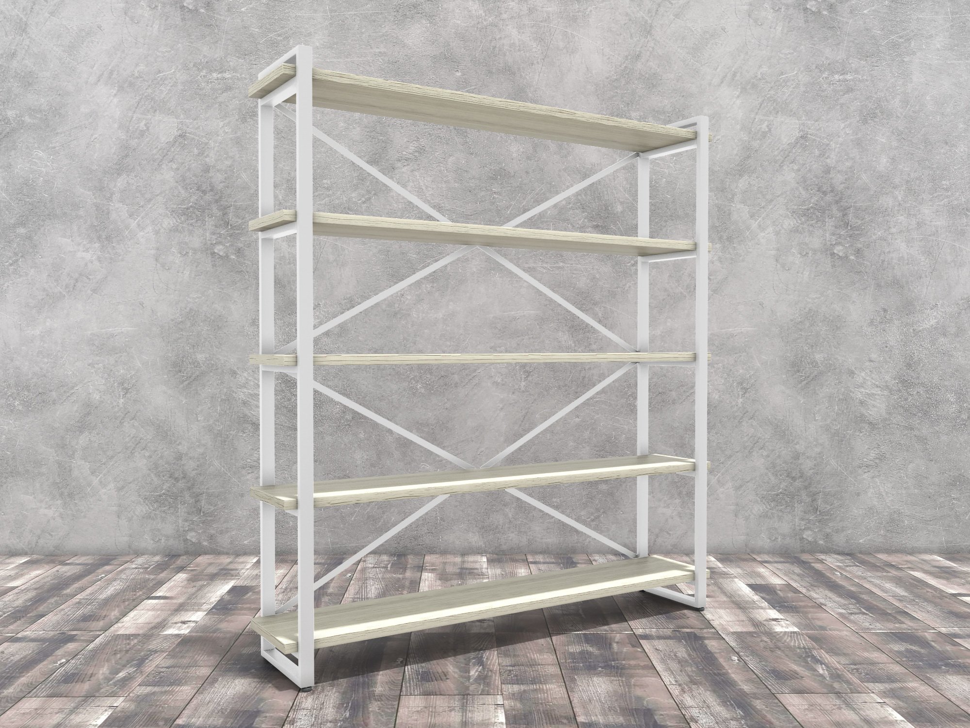 Стеллаж Айсберг Белый, Металл, ЛДСП 26 мм стеллаж айсберг белый металл лдсп 26 мм
