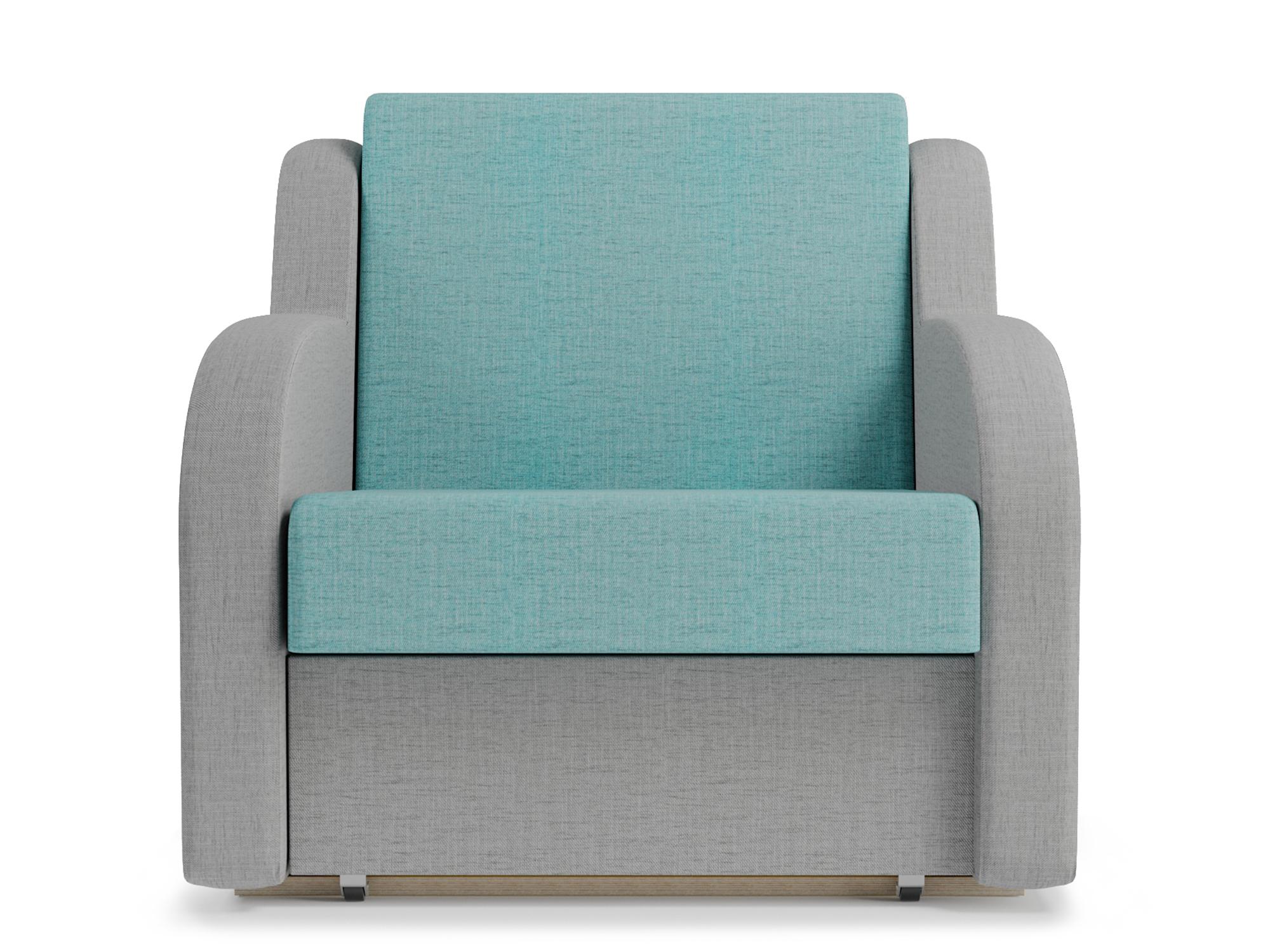 Кресло-кровать Ремикс 1 MebelVia Серый, Голубой, Рогожка, Массив, ЛДСП,