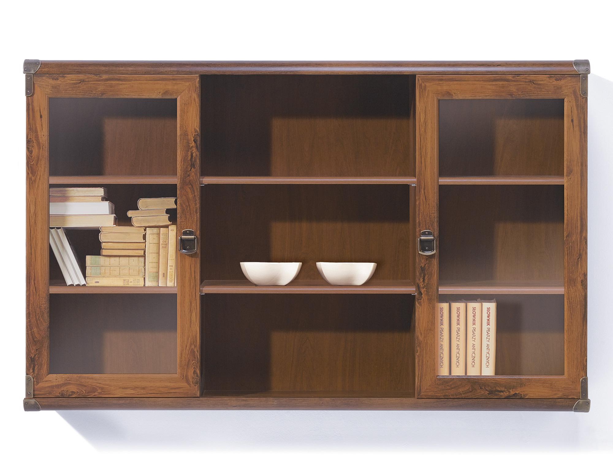 шкаф для кухни витрина настенная индиана индиана Витрина настенная Индиана Дуб саттер, МДФ, Стекло, ЛДСП