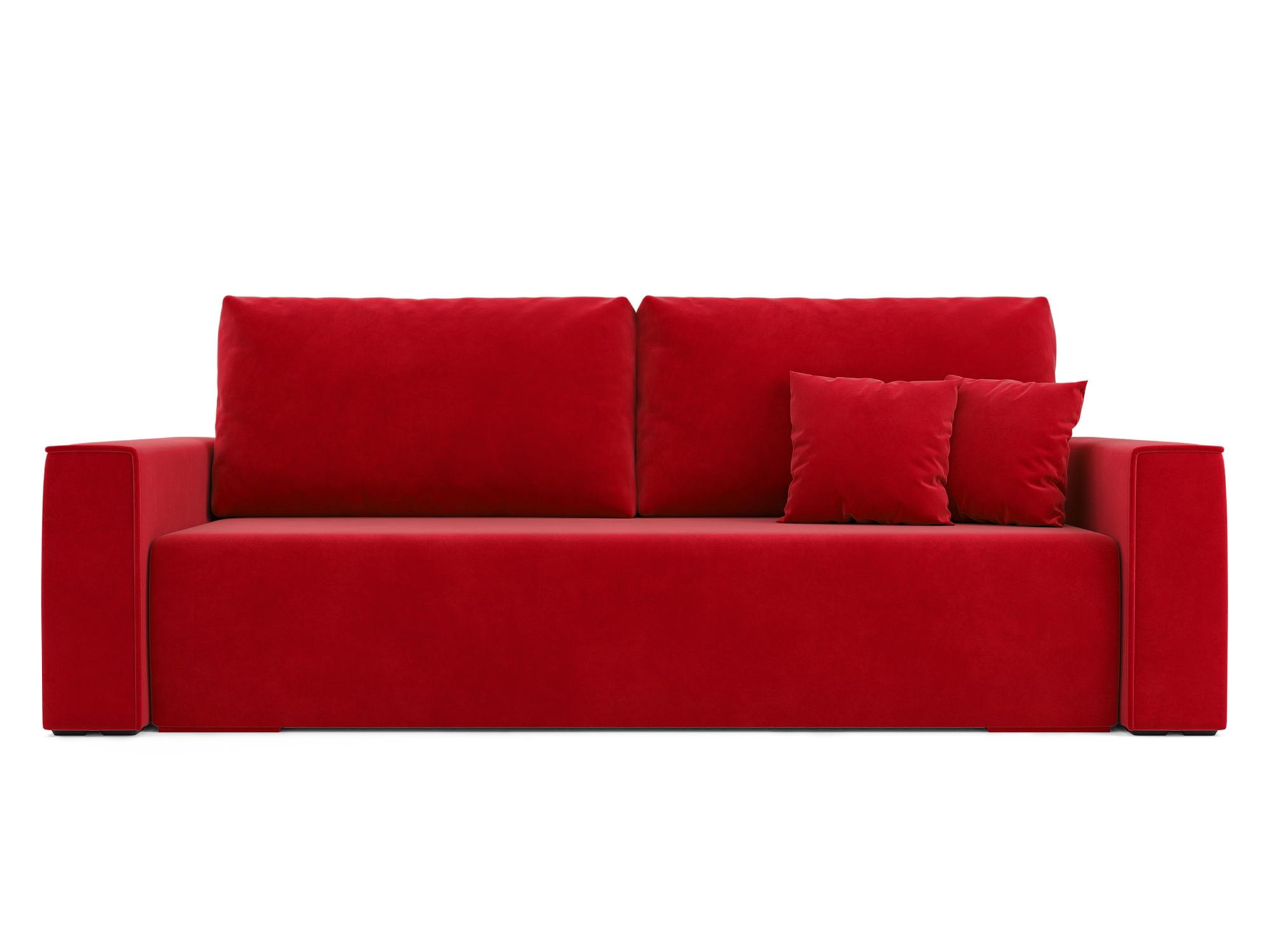 Фото - Диван Манхэттен MebelVia Красный, Микровелюр, Брус сосны диван мальтида mebelvia красный микровелюр брус сосны