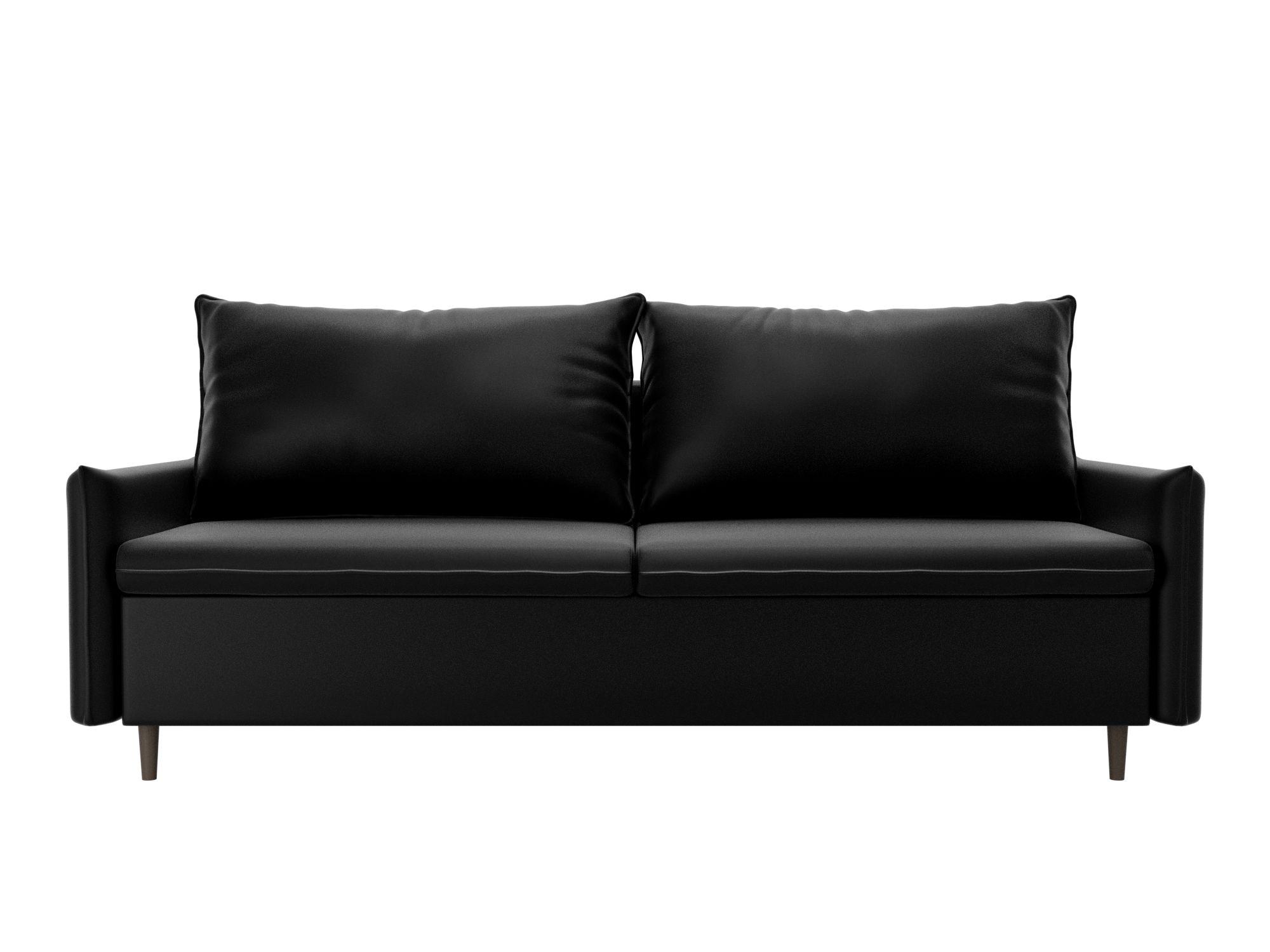 Диван Хьюстон MebelVia , Черный, Искусственная кожа, ЛДСП диван шарль люкс mebelvia белый черный искусственная кожа лдсп фан