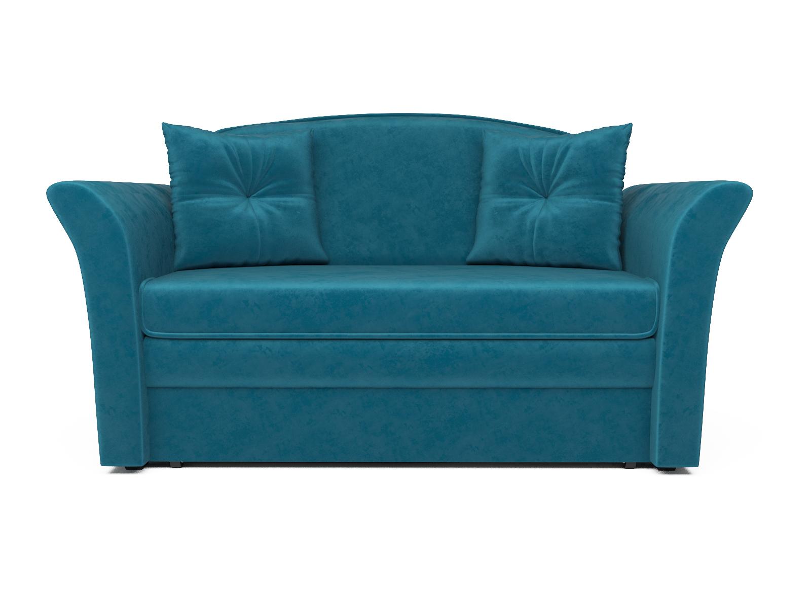 Фото - Диван Малютка 2 MebelVia , Синий, Вельвет бархатного типа, Брус сосны диван малютка 2 mebelvia синий велюр брус сосны
