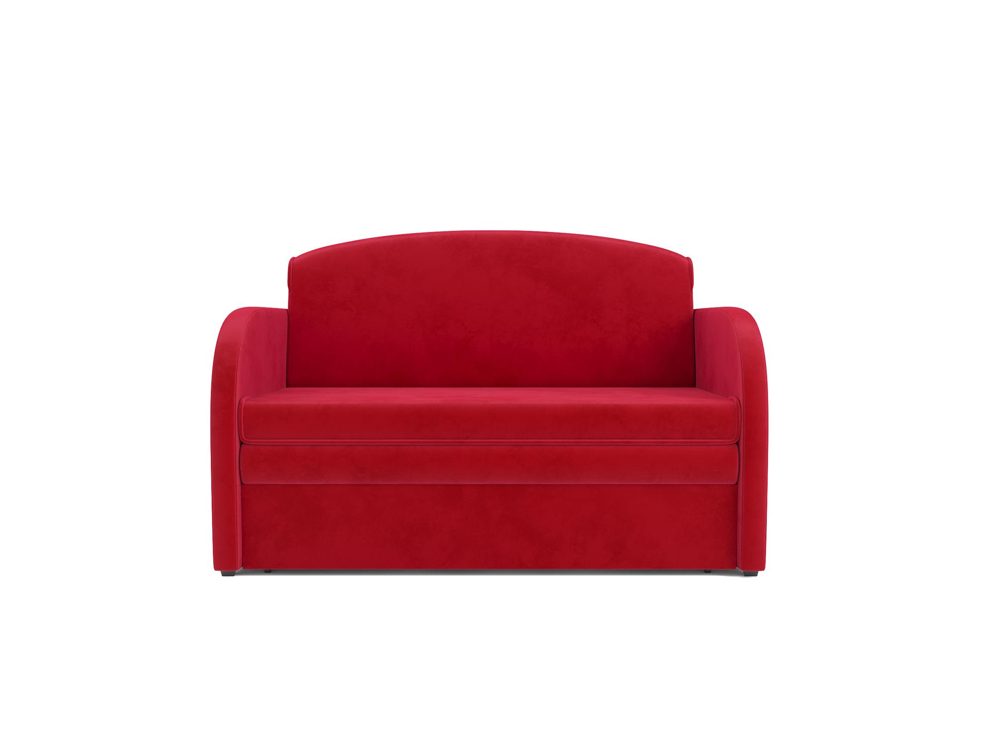 Фото - Диван Малютка MebelVia Красный, Микровелюр, Брус сосны диван мальтида mebelvia красный микровелюр брус сосны