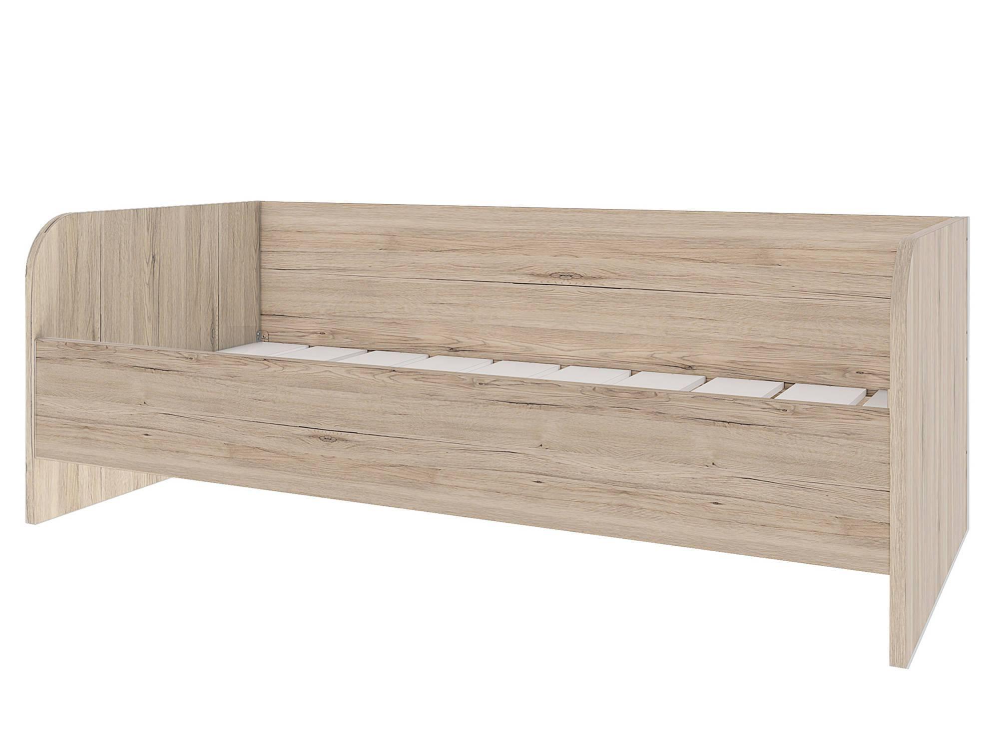 Кровать Венето (90х200) Белый, Бежевый, МДФ, КДСП