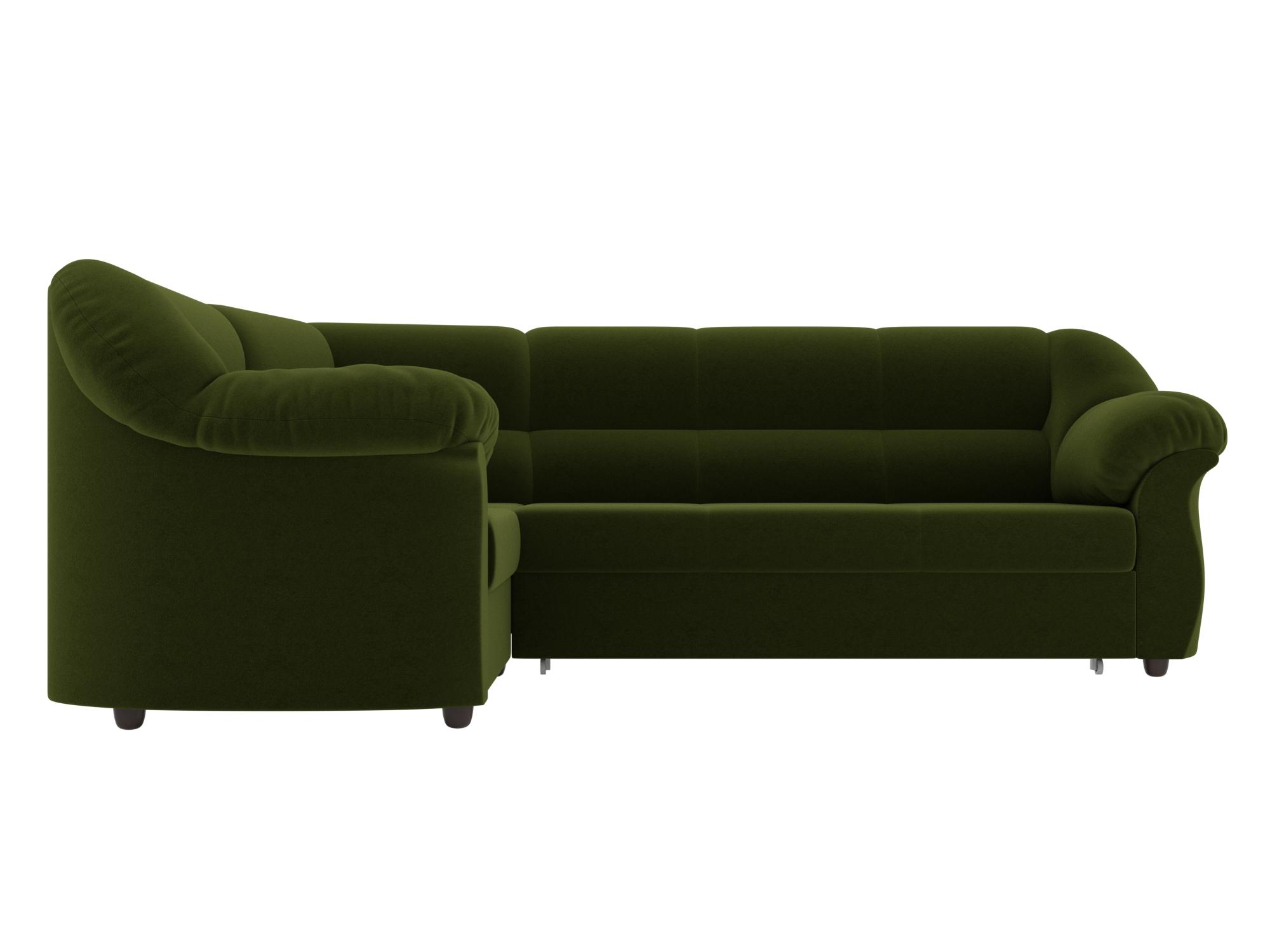 Угловой диван Карнелла Левый MebelVia , Зеленый, Микровельвет, ЛДСП угловой диван милфорд левый mebelvia зеленый микровельвет лдсп