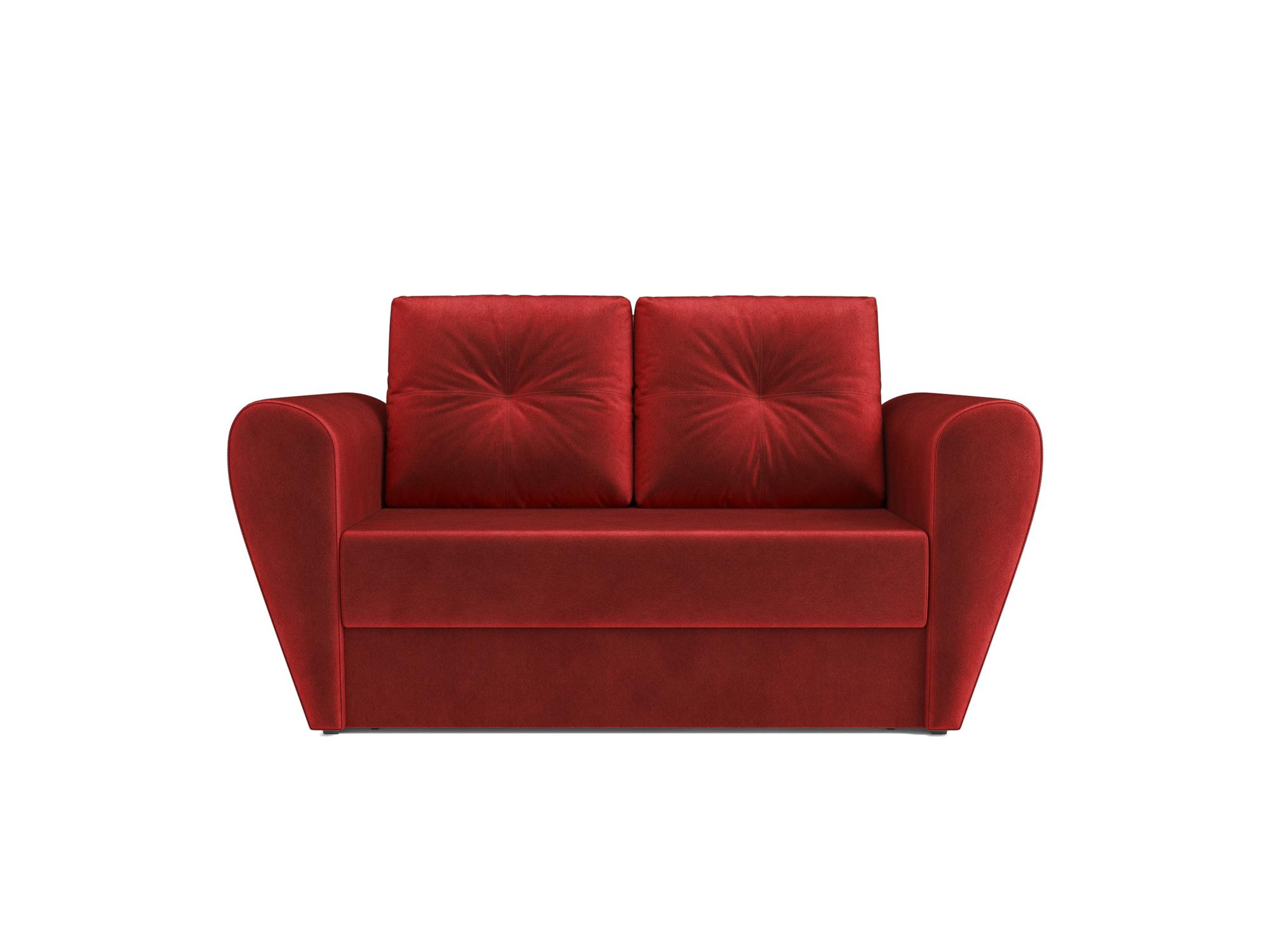 Диван Квартет MebelVia Красный, Вельвет бархатного типа, Брус сосны диван квартет mebelvia бежевый вельвет бархатного типа брус сосны