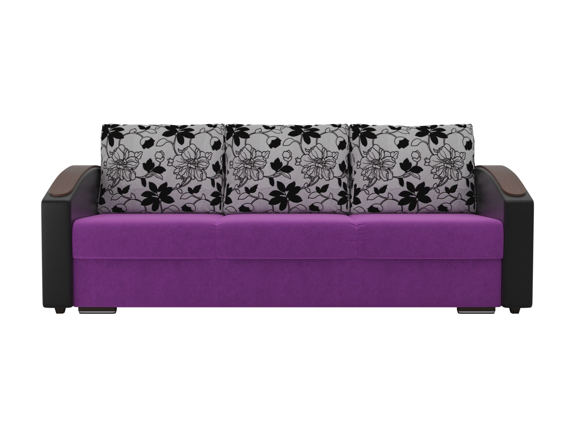 диван монако slide mebelvia черный белый искусственная кожа Диван Монако slide MebelVia Фиолетовый, Черный, Искусственная кожа