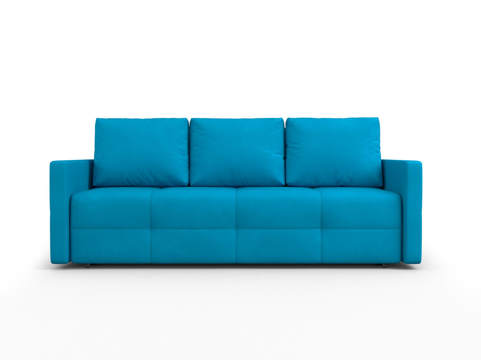 Фото - Диван Марсель 2 MebelVia Синий, Рогожка, Брус сосны диван шерлок ст евро mebelvia синий рогожка брус хвойных пород