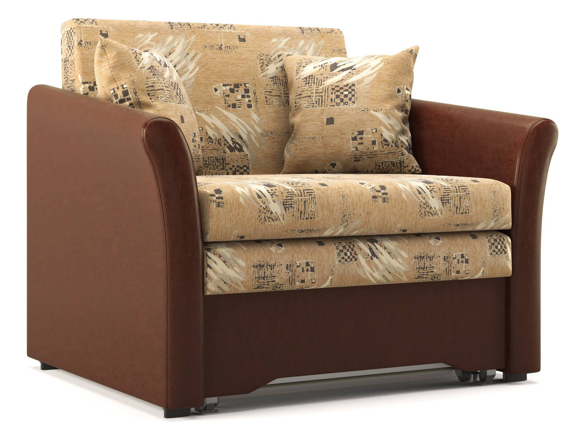 Кресло-кровать Аллегро MebelVia MebelVia Кресло-кровать Аллегро. Размер (ШхВхГ, см): 104х90х85. Спальное место (ШхД, см): 80х189. Каркас — массив, ЛДСП, фанера. Обивка — шенилл. Раскладка — «Выкатной».