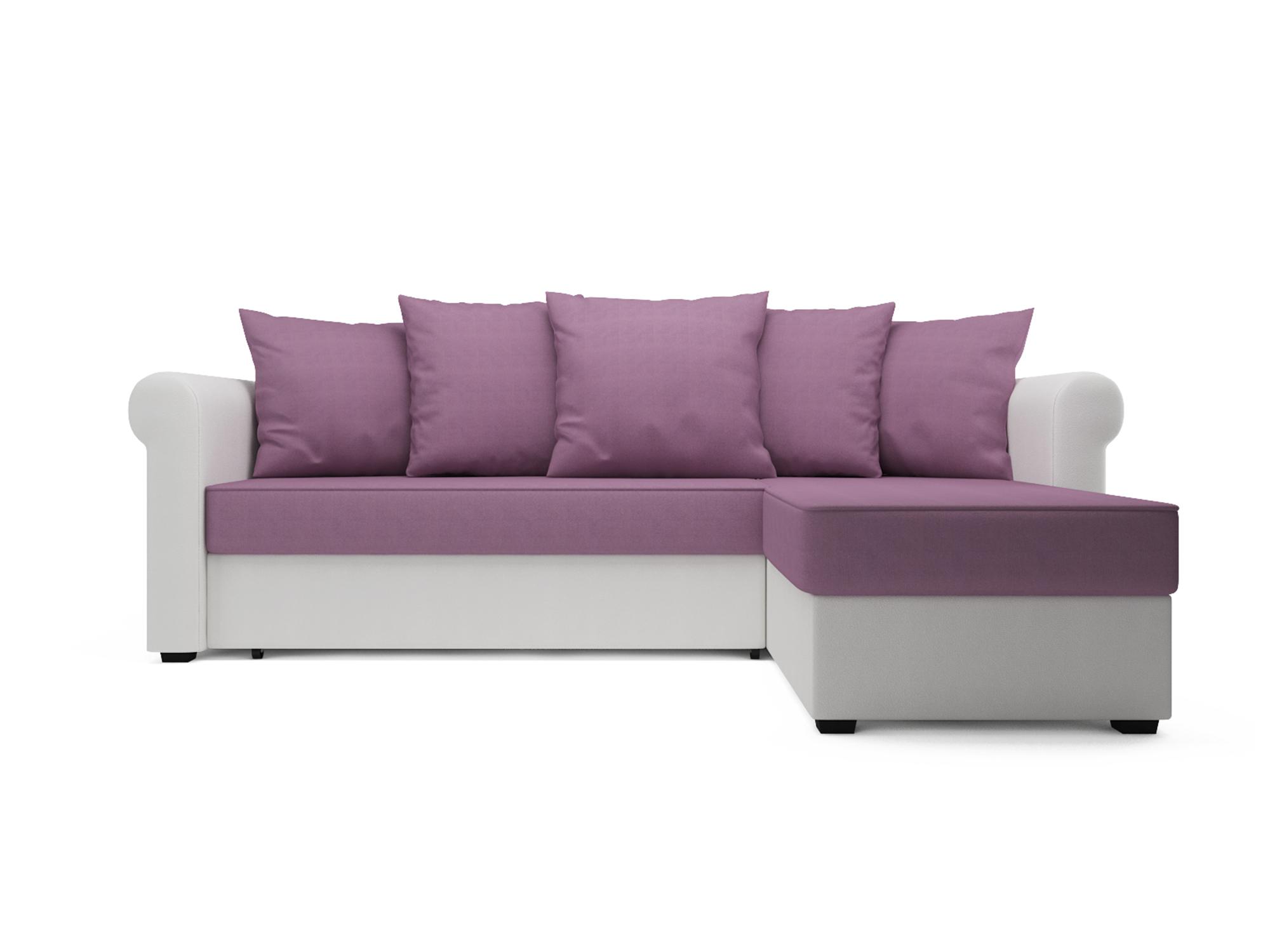 Угловой диван Рейн MebelVia Фиолетовый, Искусственная кожа