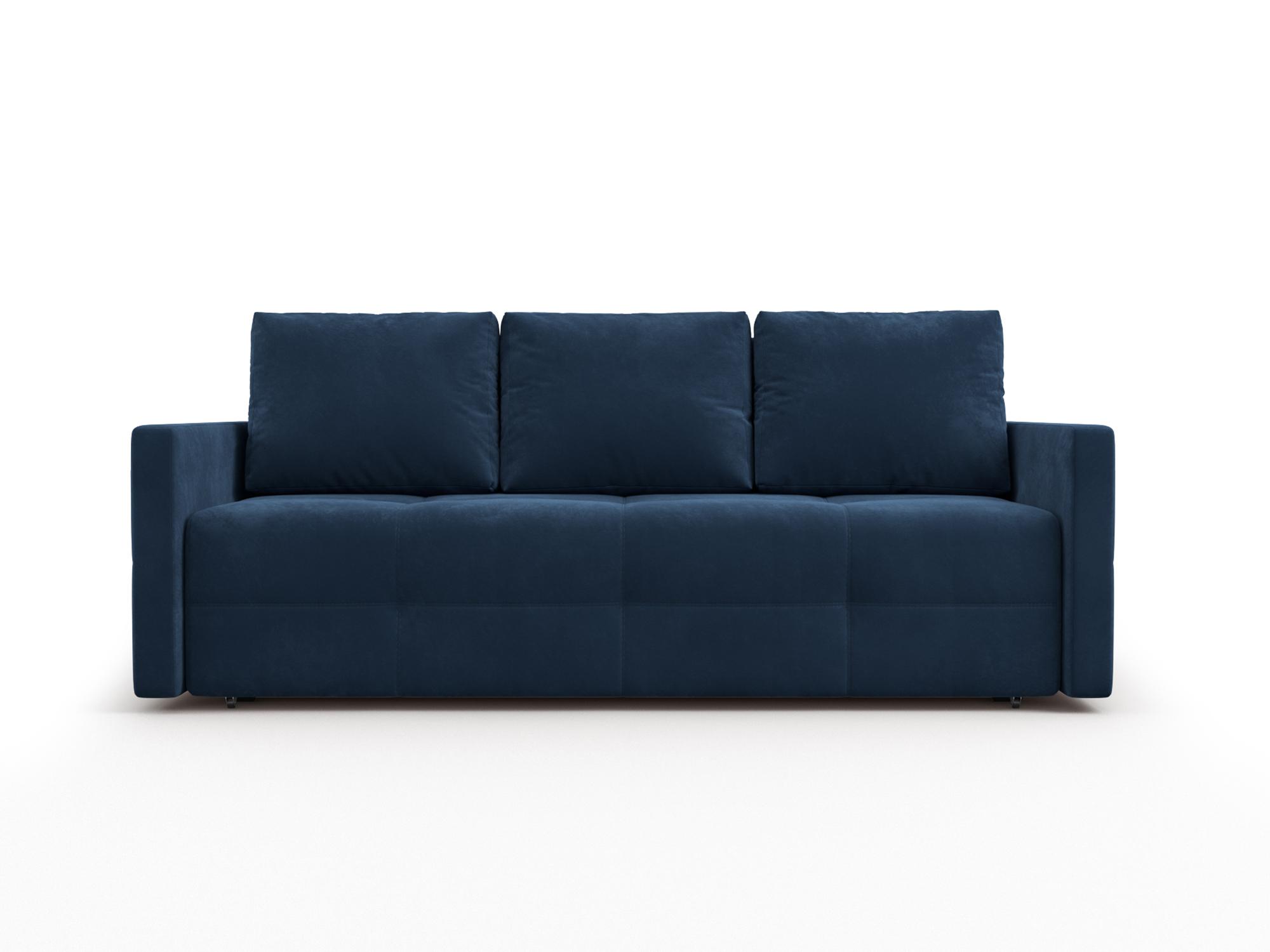 Фото - Диван Марсель 2 MebelVia Синий, Велюр, Брус сосны диван малютка 2 mebelvia синий велюр брус сосны