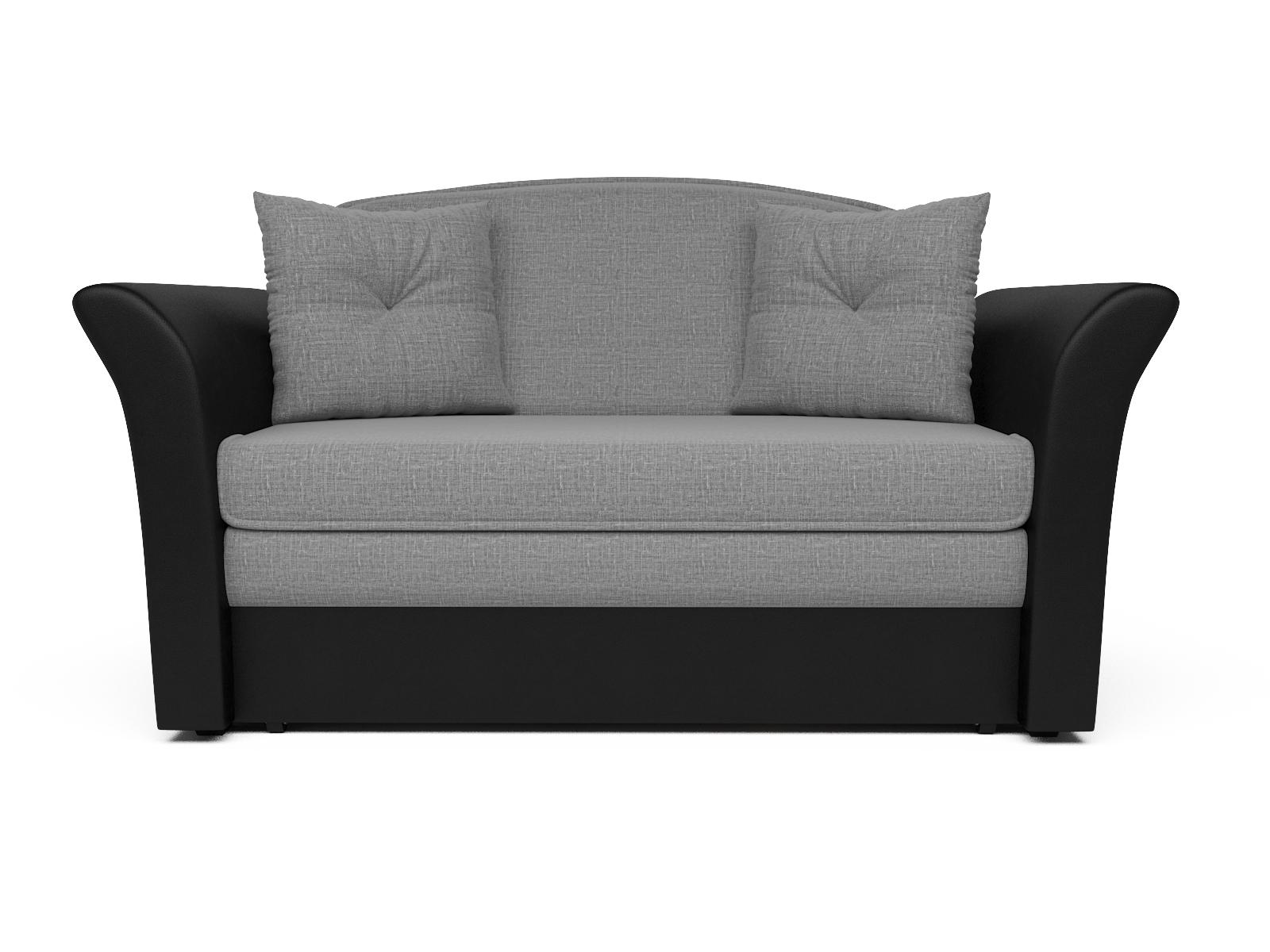 Фото - Диван Малютка 2 MebelVia Серый, Черный, Рогожка, Брус сосны диван малютка кармен mebelvia черный серый жаккард экокожа брус со