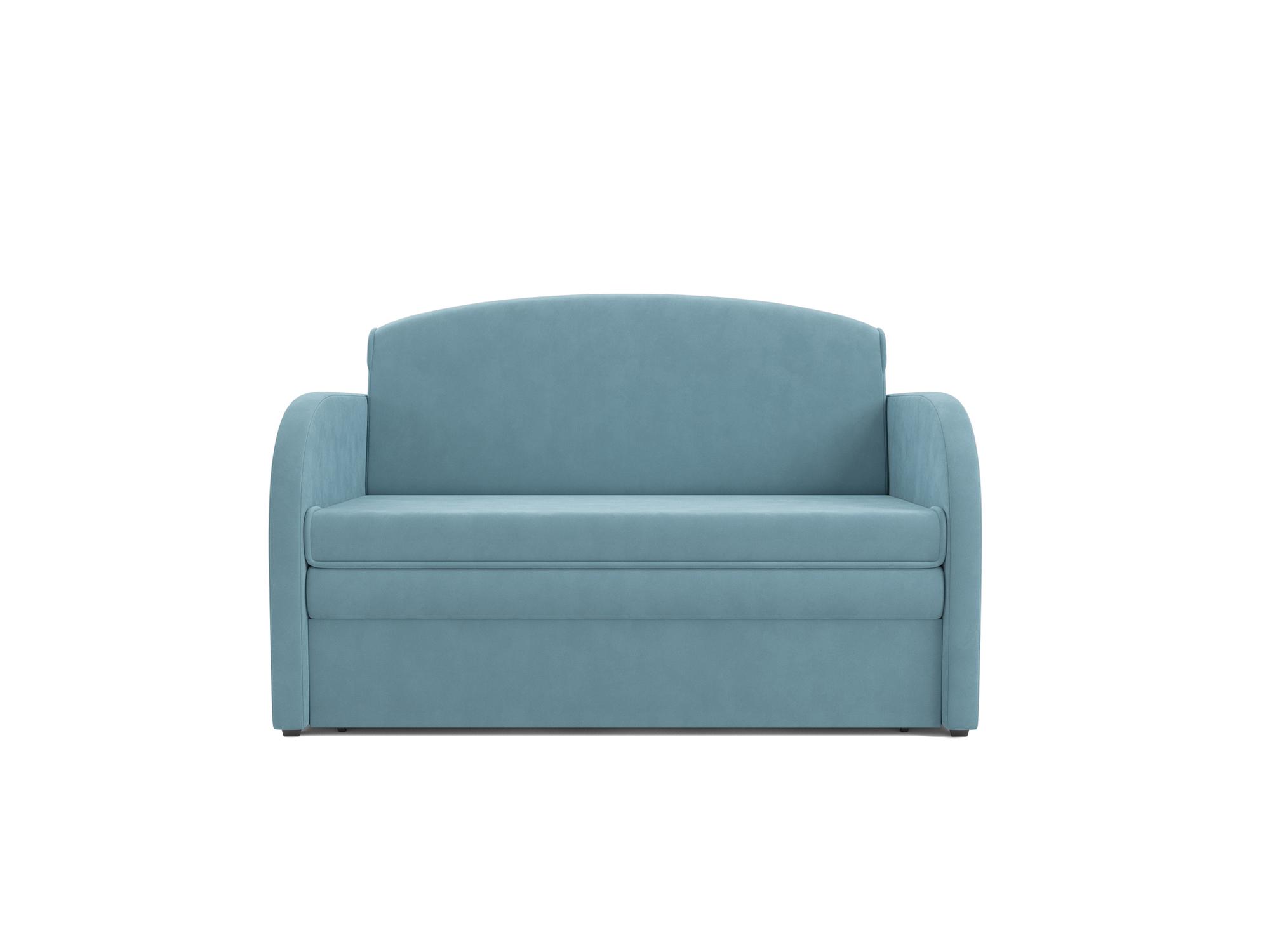 Фото - Диван Малютка MebelVia Голубой, Велюр, Брус сосны диван малютка 2 mebelvia синий велюр брус сосны