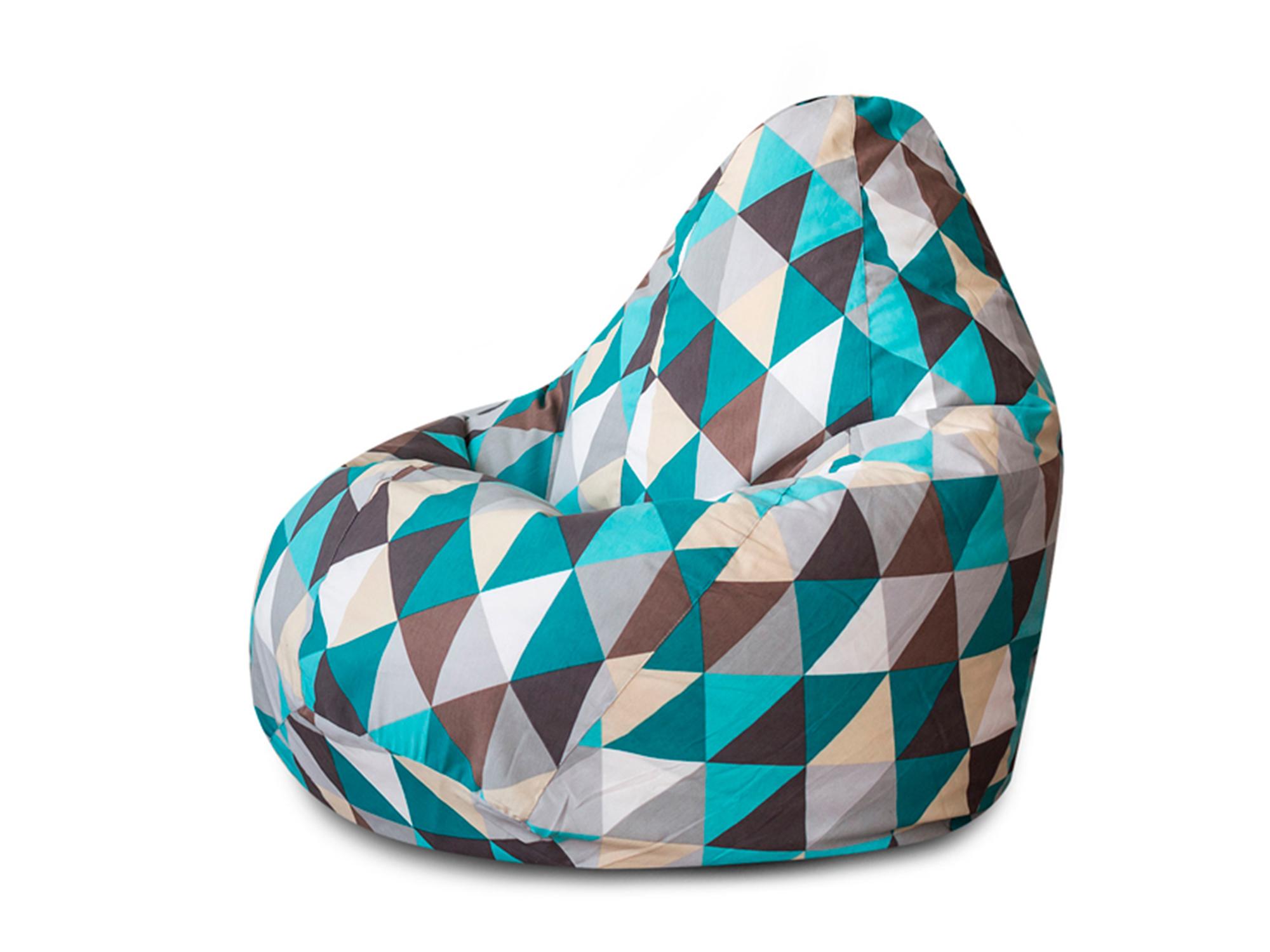 Кресло Мешок Изумруд XL 125х85 MebelVia Разноцветный, Жаккард кресло мешок флаги xl 125х85 mebelvia