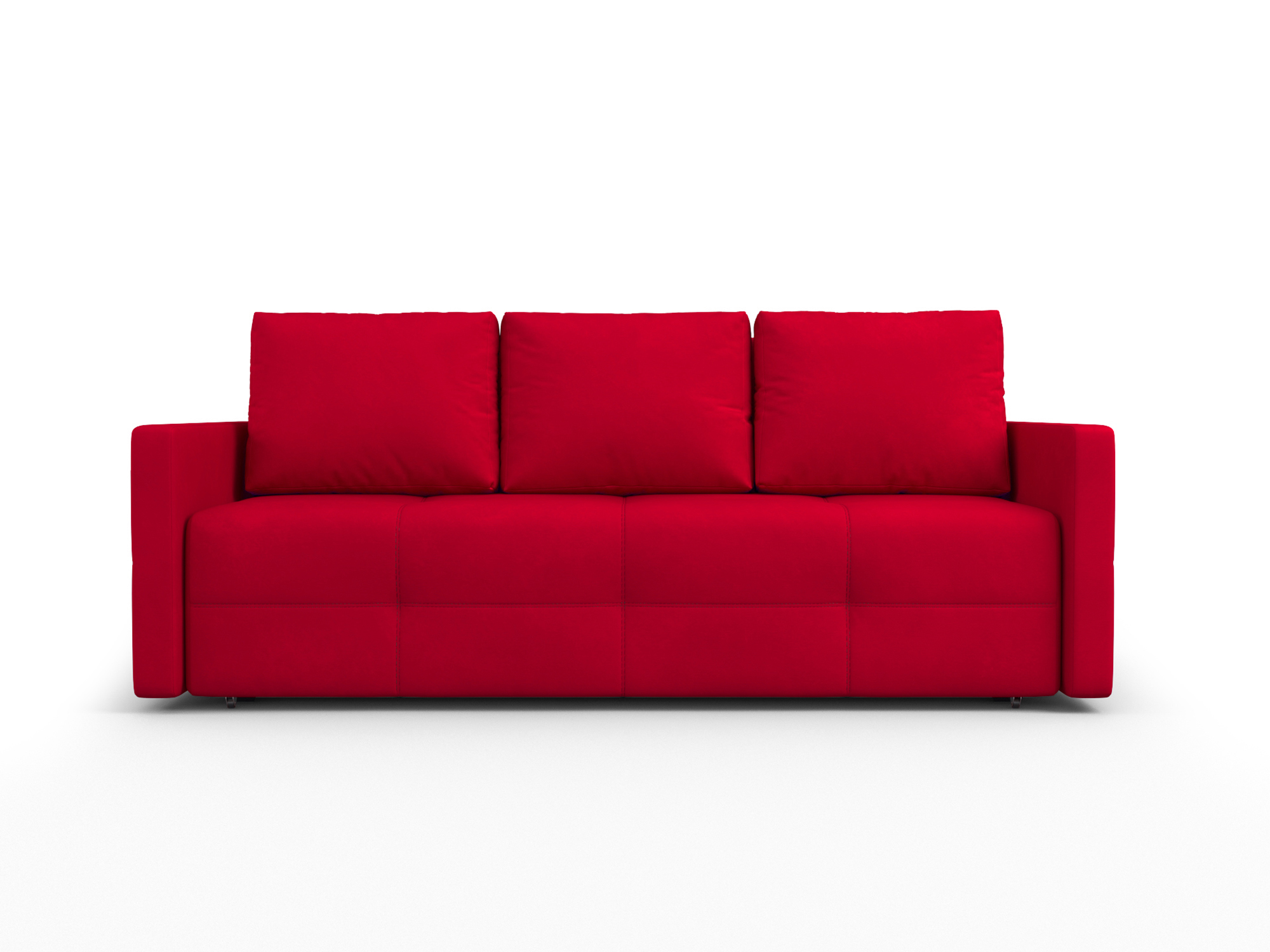 Фото - Диван Марсель 2 MebelVia Красный, Микровелюр, Брус сосны диван мальтида mebelvia красный микровелюр брус сосны