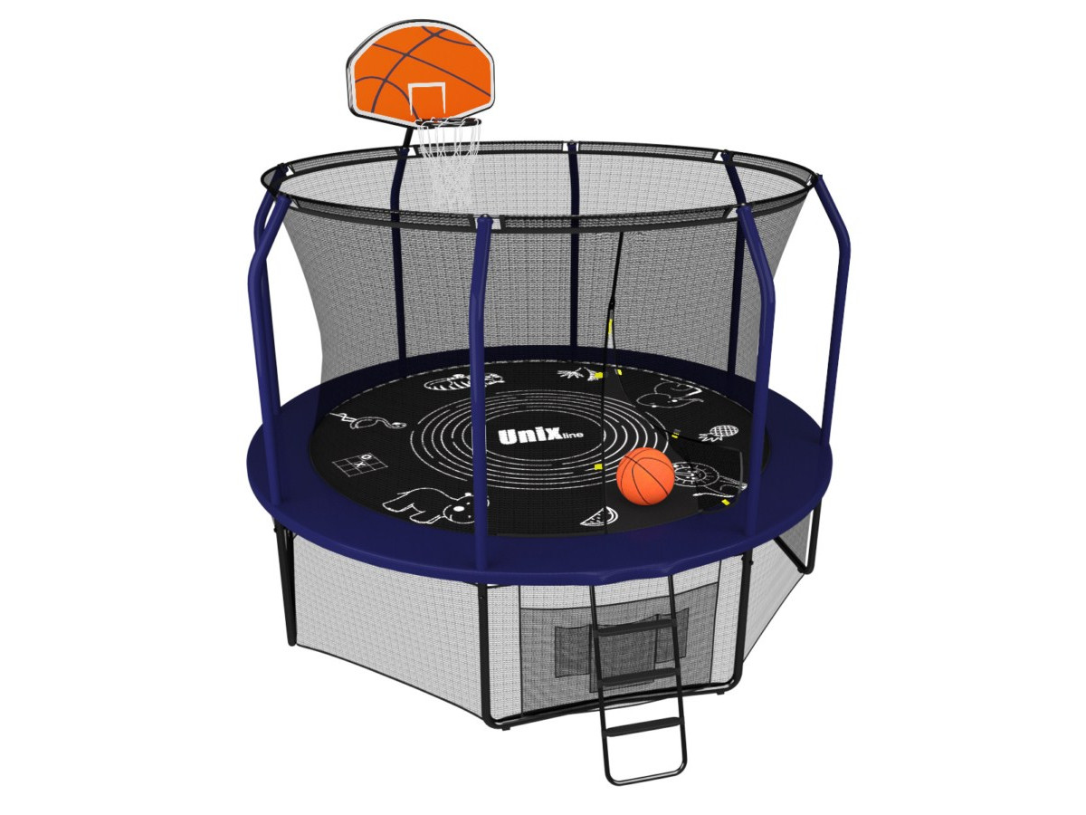 Батут UNIX line SUPREME GAME + Basketball (305 см / 10 ft)
